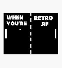 Retro T-Shirt + Hoodie Photographic Print