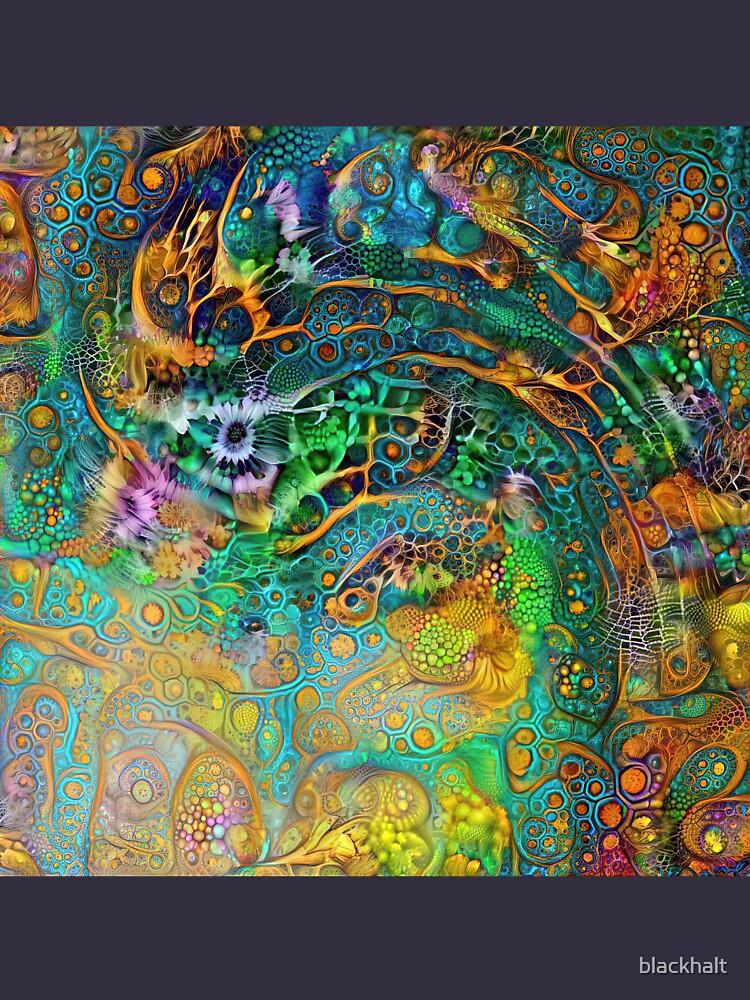Deepdream floral fractalize space abstraction by blackhalt