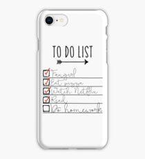 To Do List - Procrastinating Fangirl iPhone Case/Skin