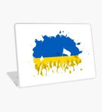 Celebrating Crowd with Ukrainian flag Laptop Skin