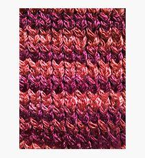 Red-Orange Knit Pattern Photographic Print