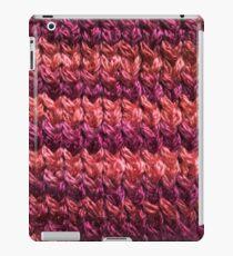Red-Orange Knit Pattern iPad Case/Skin