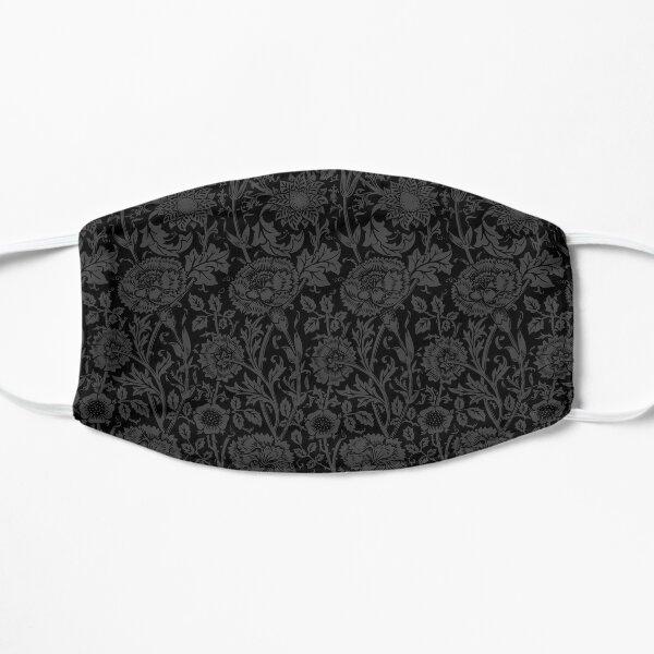 William Morris Carnations | Black and Grey Floral Pattern | Flower Patterns | Vintage Patterns | Classic Patterns | Flat Mask