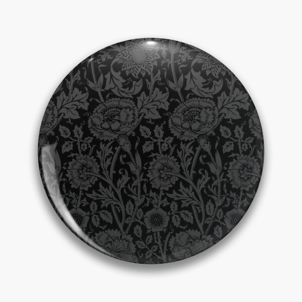William Morris Carnations | Black and Grey Floral Pattern | Flower Patterns | Vintage Patterns | Classic Patterns | Pin