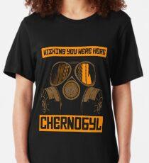 CHERNOBYL-WISHING YOU WERE HERE Slim Fit T-Shirt