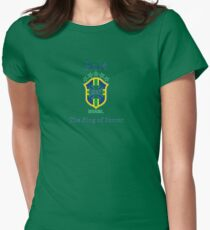 Pele king of soccer Womens Fitted T-Shirt