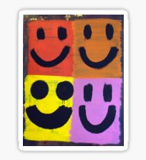 Abstract Jackson Pollock Painting Original Art Titled: More Smiles Sticker