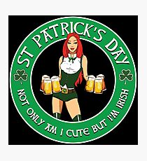 St Patrick's Day Gal Variant Black Photographic Print