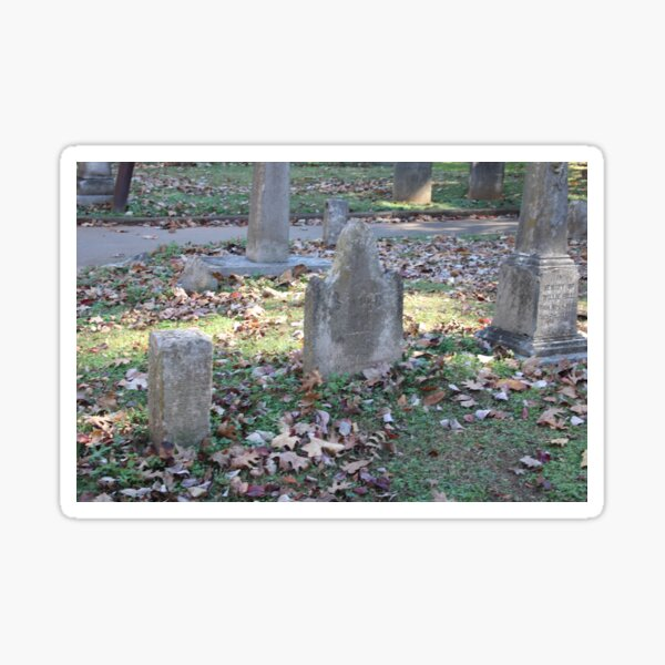 Oddly Shaped Headstone in Maple Hill Cemetery (unedited) Sticker