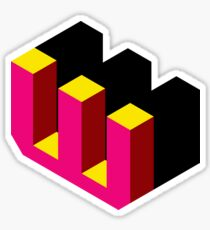 Letter W Isometric Graphic Sticker