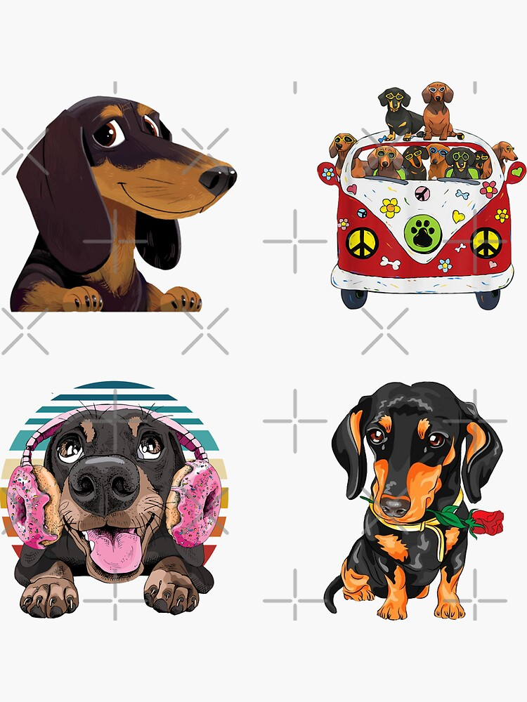 Cute Dachshunds Funny Sausage Dog Lover Wiener Dog Mom Gift Bundle Pack by KostaGe
