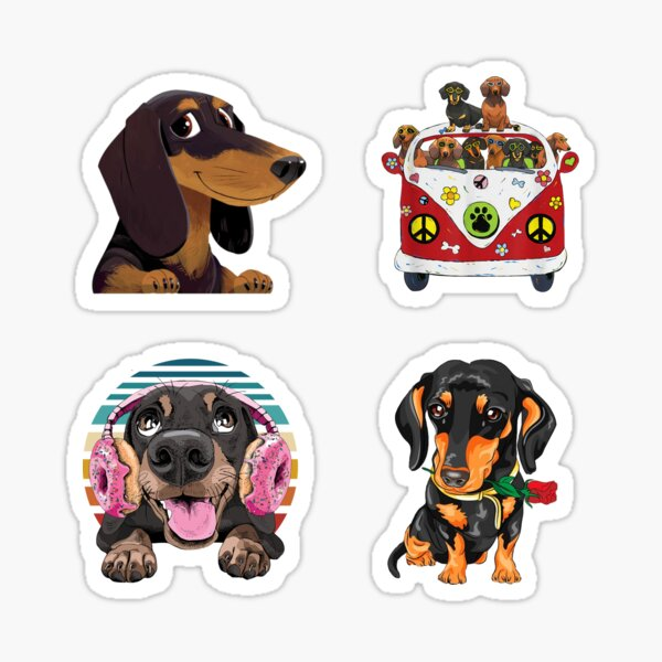 Cute Dachshunds Funny Sausage Dog Lover Wiener Dog Mom Gift Bundle Pack Sticker