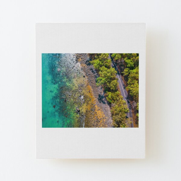 Aerial Photos - Cairns Ellis Beach Wood Mounted Print