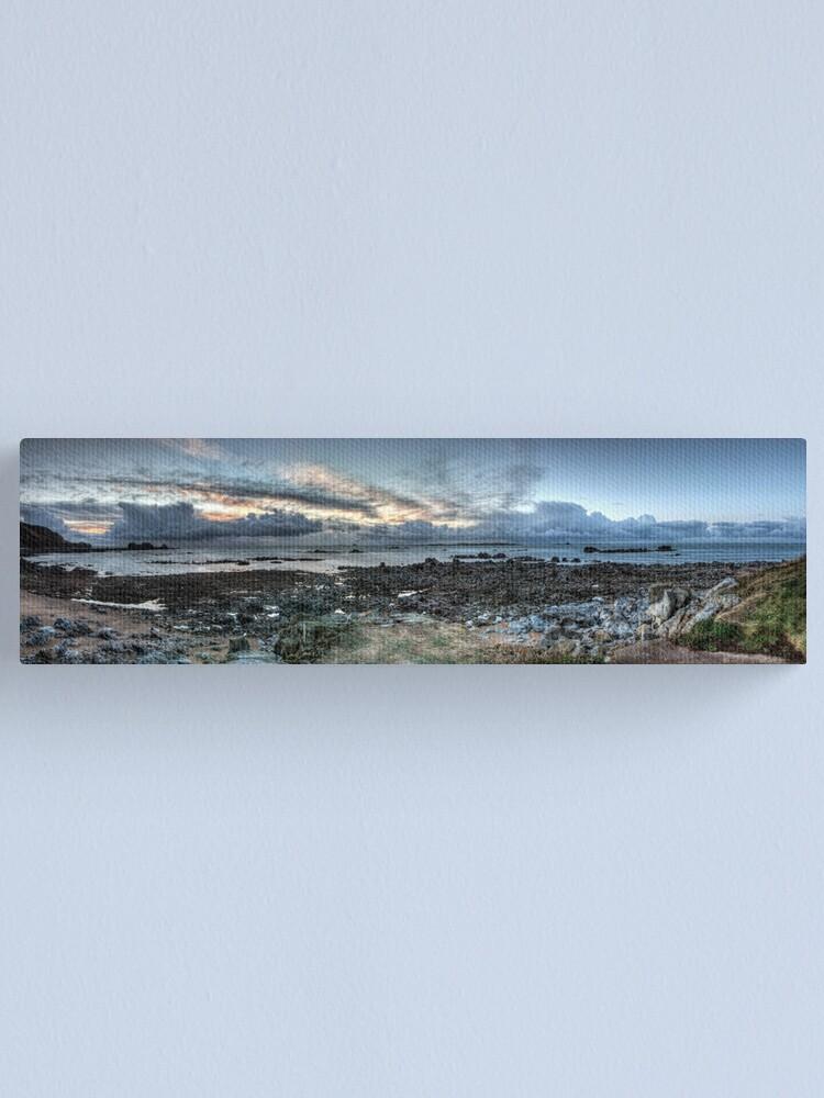 Alternate view of Clonque Bay, Alderney Canvas Print