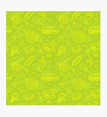 Fast Food Doodle Seamless Pattern Photographic Print