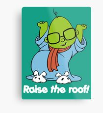 Muppet Babies - Bunsen - Raise The Roof - White Font Metal Print