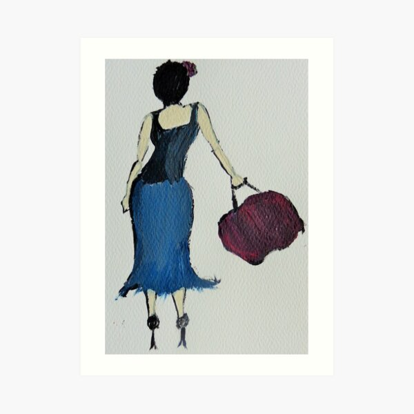 Classy Lady Art Print