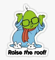 Muppet Babies - Bunsen - Raise The Roof - Black Font Sticker