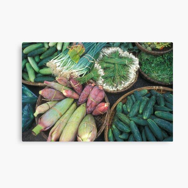Delicious, fresh Vietnamese greens Canvas Print
