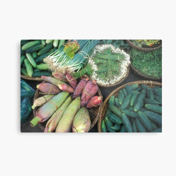 Delicious, fresh Vietnamese greens Metal Print