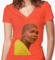 I'M NOT JOKING BITCH Women's Fitted V-Neck T-Shirt