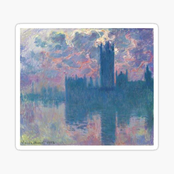 Claude Monet - Parlement, coucher du soleil (sunset), 1902 Sticker