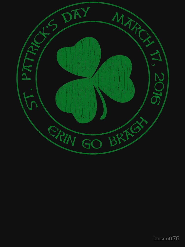 St. Patrick's Day 2016 round, green, distressed by ianscott76