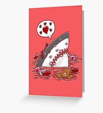 Valentine's Day Shark Greeting Card