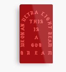 Ultralight Beam - Red Metal Print