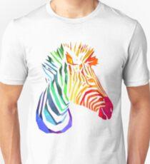 Low-Poly Rainbow Zebra Unisex T-Shirt