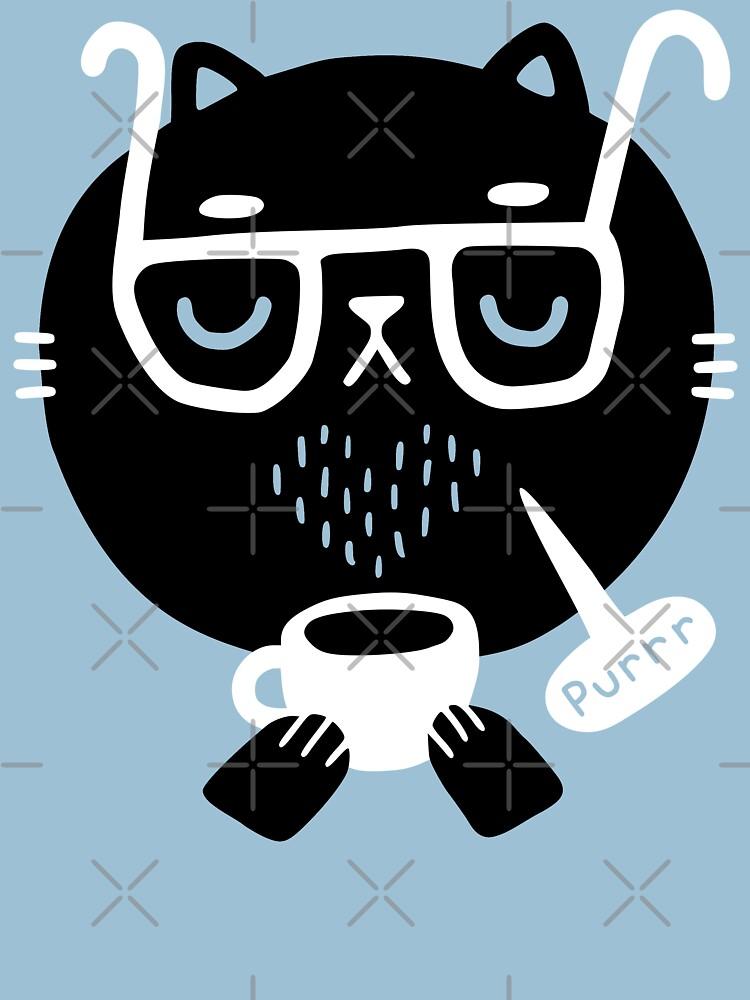 Cat Loves Coffee by obinsun
