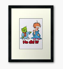Muppet Babies - Bunsen & Beeker - He Did It! Framed Print