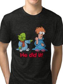Muppet Babies - Bunsen & Beeker - He Did It! Tri-blend T-Shirt