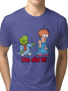 Muppet Babies - Bunsen & Beeker - He Did It! Tri-blend T-Shirt