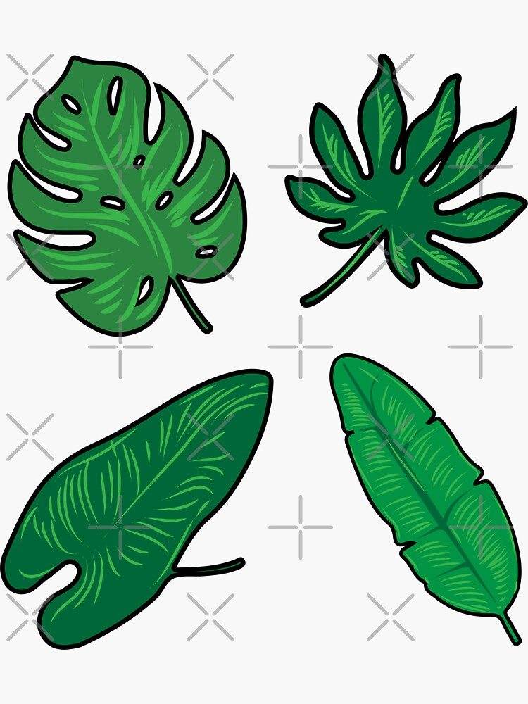 Green leaves pack. Nature lover gift. by CWartDesign