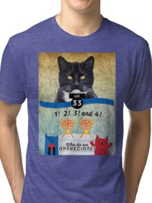 A Special Factor Cat-egorically Appreciated - Mister Tri-blend T-Shirt