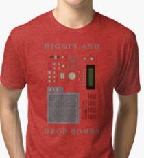 DIGGIN AND DROP BOMBS Tri-blend T-Shirt