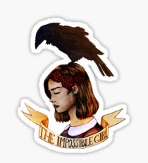 The impossible girl Sticker