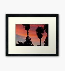 desert sunset - socal desert 2016 Framed Print