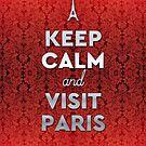 Keep Calm and Visit Paris Opera Garnier Floral Wallpaper by Beverly Claire Kaiya