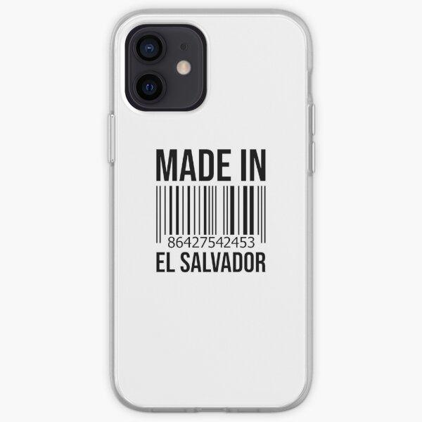 Hecho en El Salvador Funda blanda para iPhone