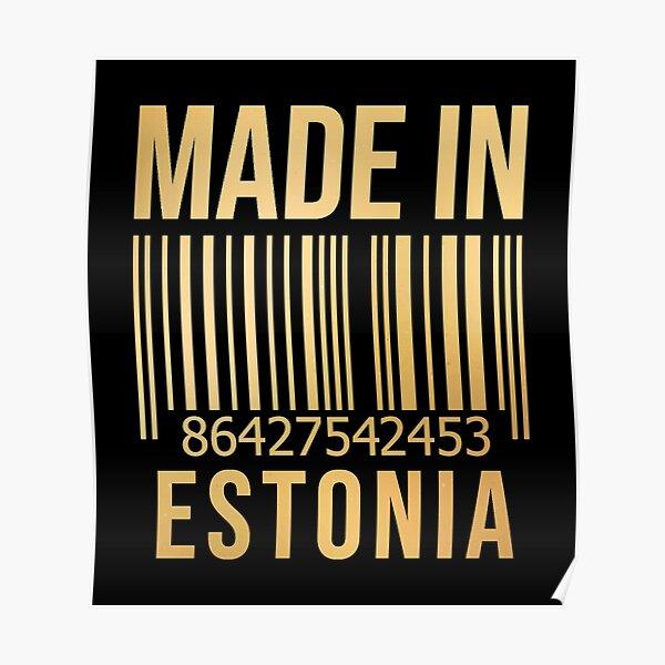 Made in Estonia in Gold Poster