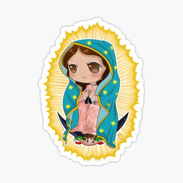 Chibi Nuestra Señora de Guadalupe Pegatina
