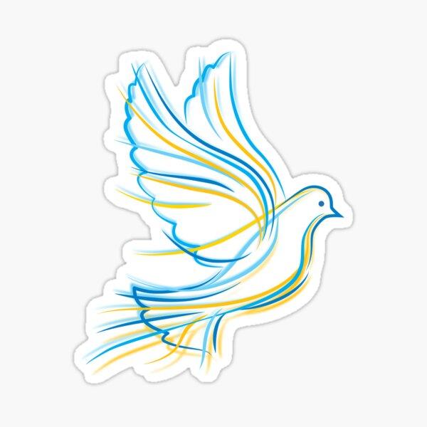 Ukrainian Dove Sticker