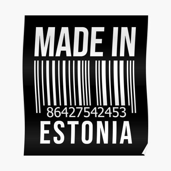 Made in Estonia Poster