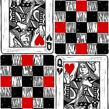 Chess Queen in Red and Black by jenithea