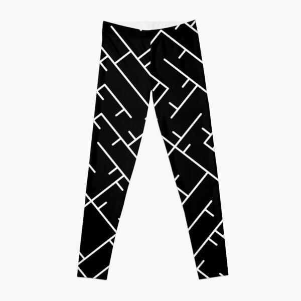 White Line Pattern | Truchet Pattern | Illustration | cool | modern art | abstract art | simple Leggings