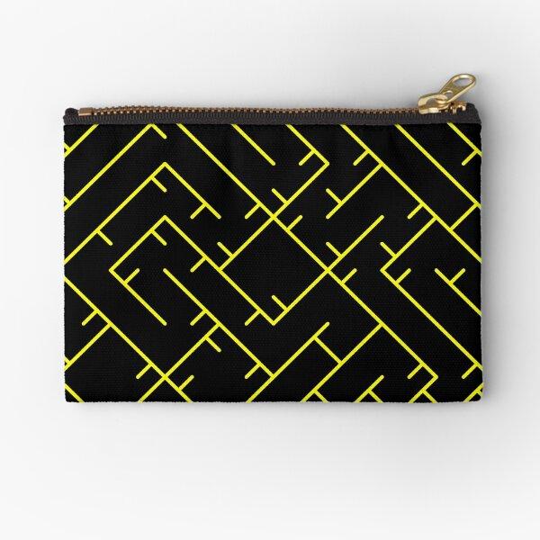 Yellow Line Pattern | Truchet Pattern | Illustration | cool | modern art | abstract art | simple Zipper Pouch
