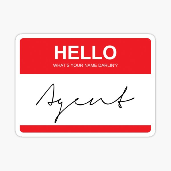 What's Your Name? Sticker