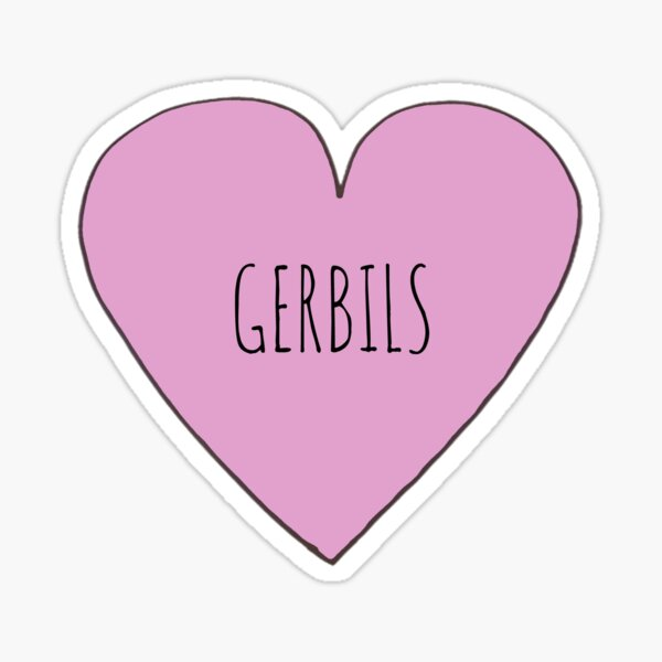Gerbil Love Sticker